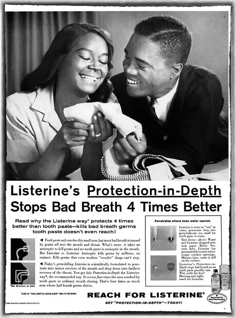 Reach for Listerine with Gail Fisher of Mannix TV Show - Ebony Magazine, January, 1961