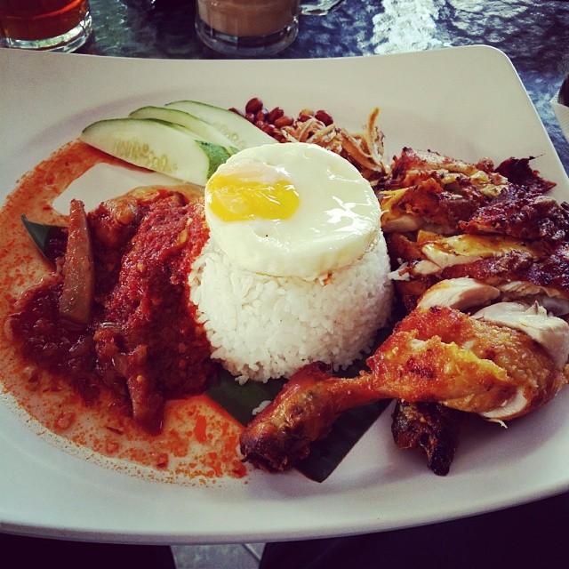 Nasi Lemak Sambal Sotong Ayam Goreng Kigabex Flickr
