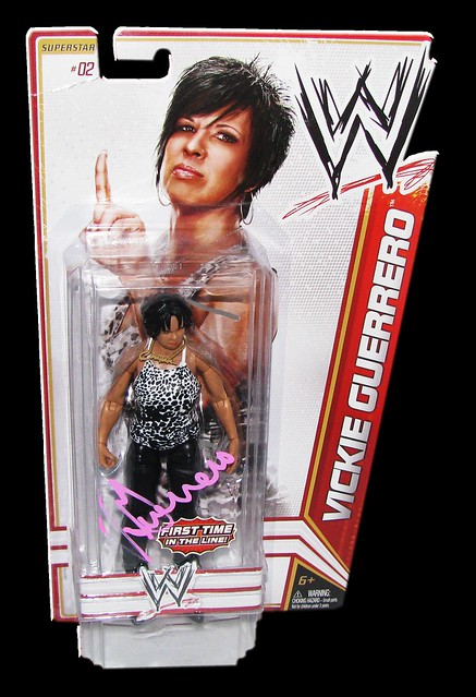 Vickie Guerrero Autographed WWE Basic Mattel Series 13 Figure
