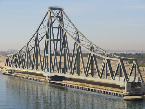 El Ferdan Railway Bridge replaced the 1963 Suez Canal bridge, which was destroyed in the Six-Day War | by Bill Taney