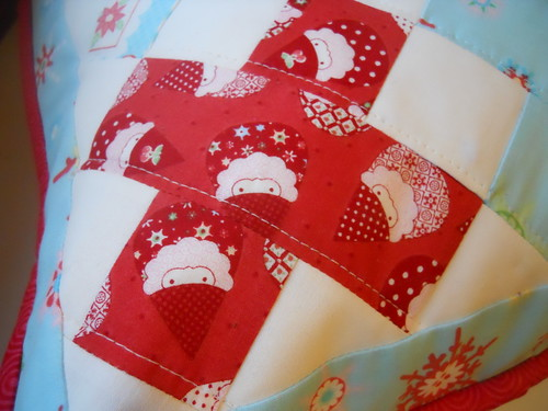 Close Up of Christmas Pillow
