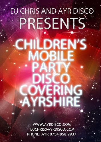 Children's disco Ayrshire -  a great party idea | by djchrisAyrDisco