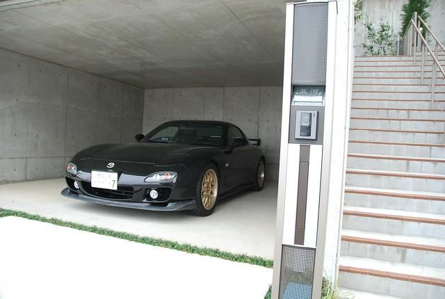 自宅のガレージ