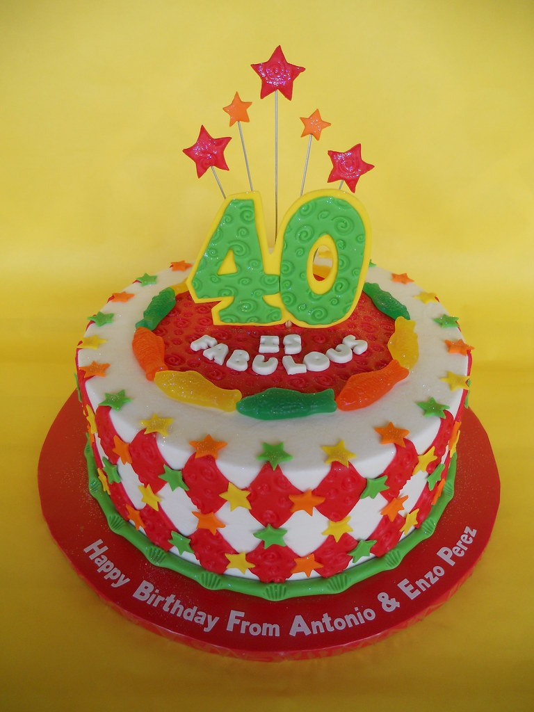Super 40 Is Fabulous Birthday Cake Amy Stella Flickr Funny Birthday Cards Online Overcheapnameinfo