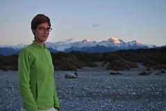 Mt.Cook i Mt.Tasman des de la platja