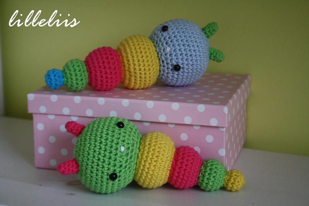 Amigurumi Rainbow Caterpillar Free Crochet Pattern - Crochet.msa.plus | 684x1024