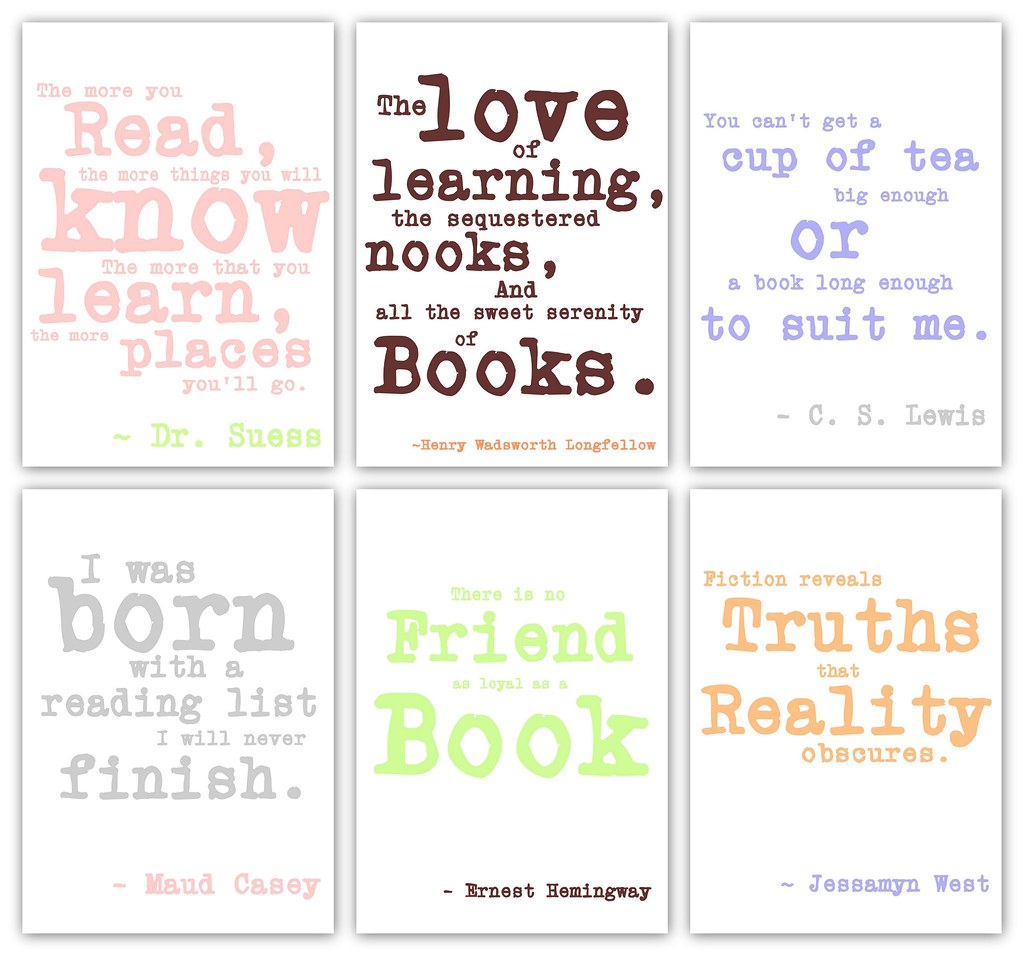 Lil\' Baby Bookworm Baby Shower - Quote Prints   Quotes put i ...