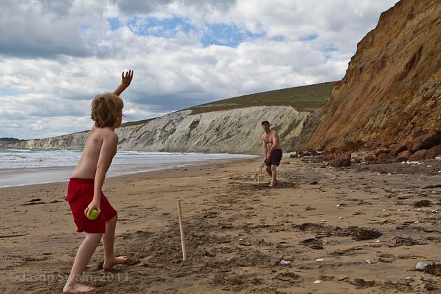 Beach Cricket #3, Compton Bay, Isle of Wight
