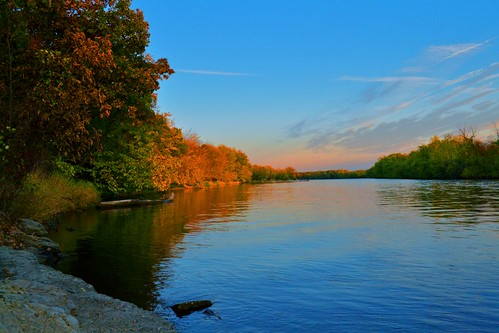 park autumn sunset milan color fall colors river rockisland rockriver blackhawkpark nikond3100