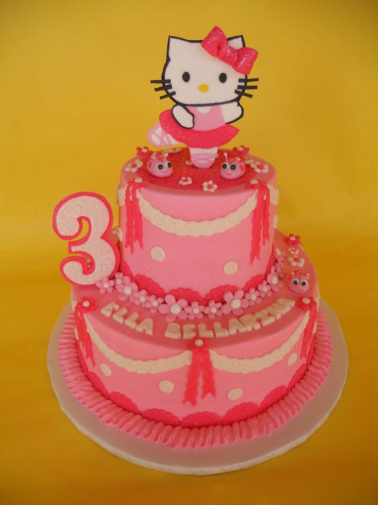 f99865b7a ... Hello Kitty Ballerina Birthday cake   by CakesUniqueByAmy.com