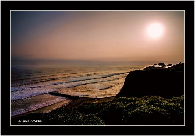 Evening sun over Lima, Peru