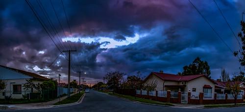 sunset panorama clouds outdoor australia adelaide southaustralia croydon