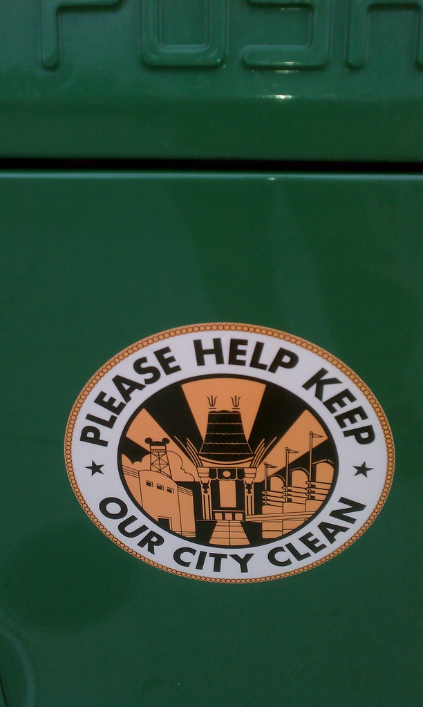 Please Help Keep Our City Clean | Beautiful trash can decal … | Flickr