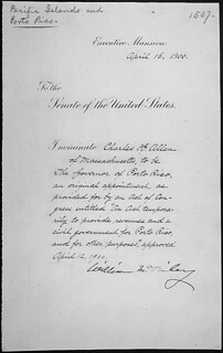 Message of President William McKinley nominating Charles H. Allen to be Governor of Porto Rico, 04/16/1900