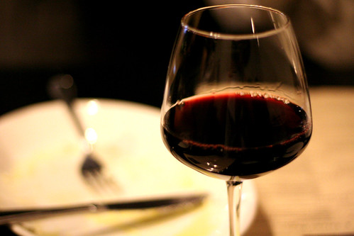 red wintery wine at Osteria Marco   by Jing a Ling