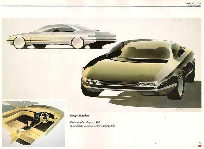 Nissan CUE-X early drawings