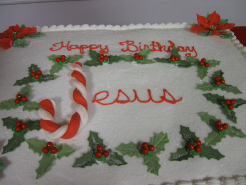 Astonishing Happy Birthday Jesus Cake For Antioch Christian Academy Flickr Funny Birthday Cards Online Overcheapnameinfo