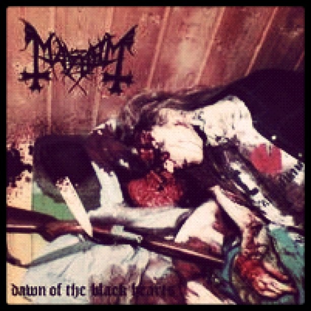 Dawn of the Black Hearts is a bootleg live album by Mayhem band. It is infamous for bearing a photograph of Mayhem's vocalist, Dead [Per Yngve Ohlin], after his suicide in April 1991. This photograph was allegedly taken by Mayhem's guitarist, Euronymous [