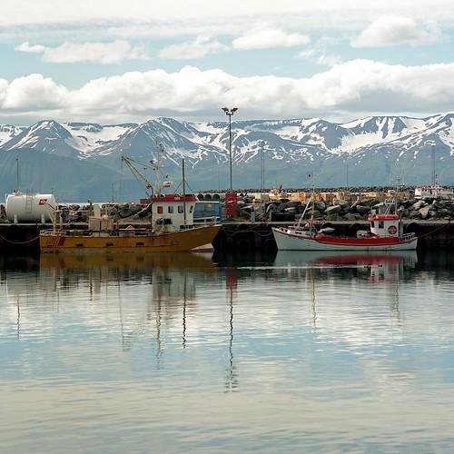 """Image titled """"Harbour, Húsavík, Iceland."""""""
