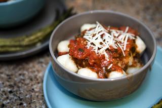 Potato Gnocchi w/Tomato Sauce   by epiøne