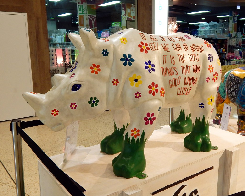No 118, Rosie the Rhino, Roselands Shopping Centre, Roselands, Sydney, NSW.