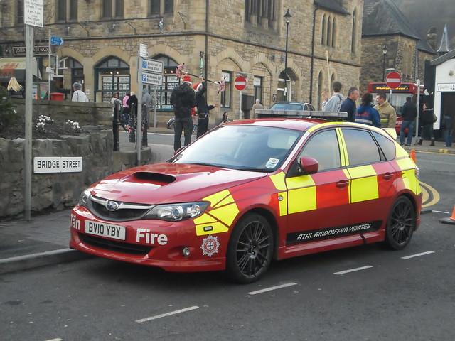 North Wales Fire and Rescue Subaru Impreza STI BV10 YBY