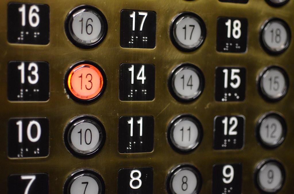 13th Floor Elevator Button 13th Floor Elevator Button