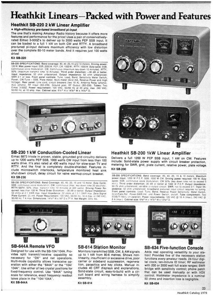 Heathkit Catalog 1978 - 023 | Heathkit Linears - Packed with… | Flickr