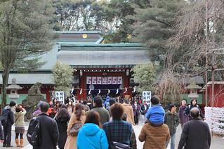 大國魂神社 中雀門から拝殿を望む