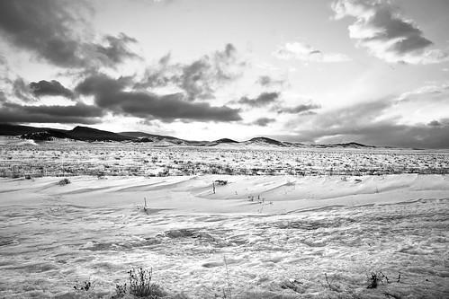 sunset blackandwhite snow clouds landscape nikon colorado lakegeorge goldenhour d300 elevenmile 1685mm thirtyninemileroad