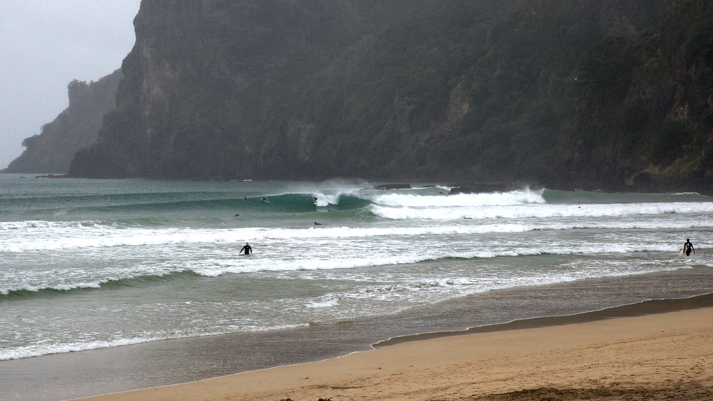 Surfing In The Rain Surfing Northland New Zealand Tony