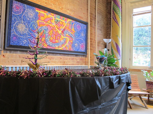 Mardi Gras beaded art,