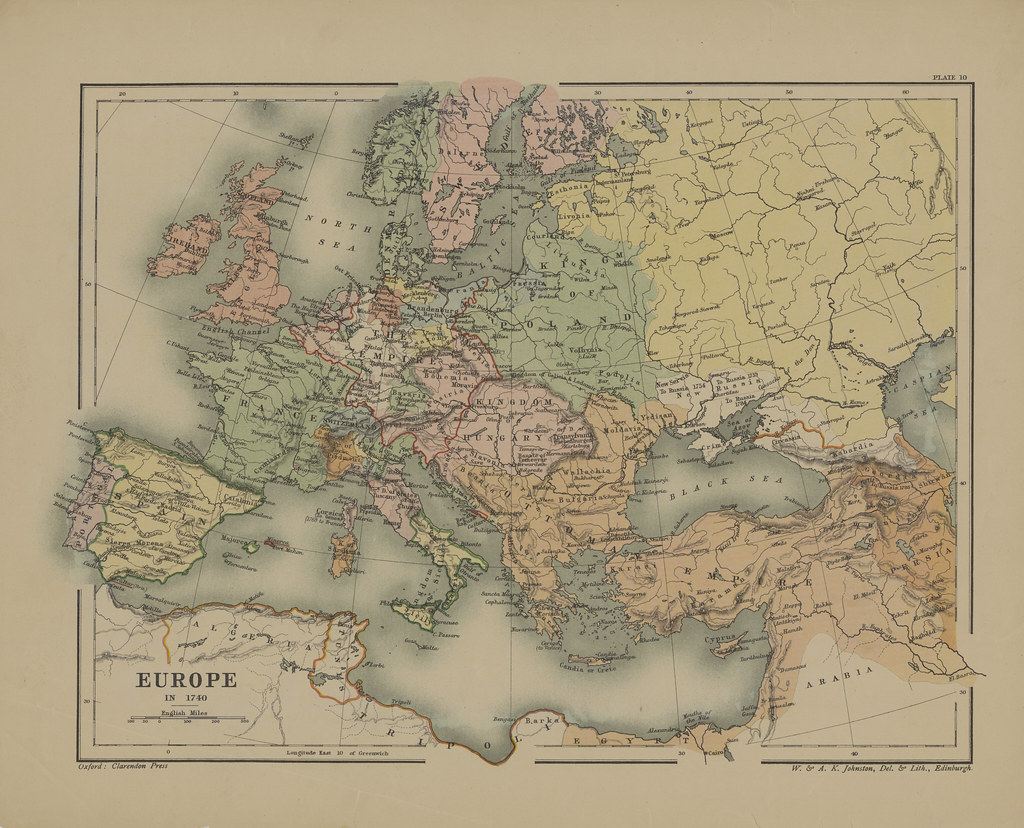 Map page of Section X Europe in the Eighteenth Century pri… | Flickr