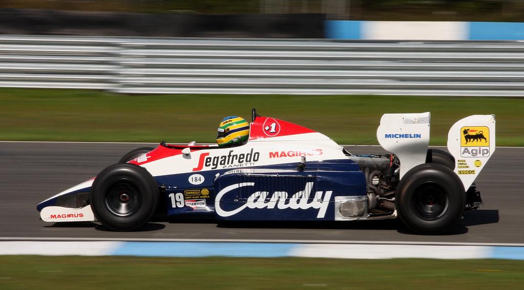 Ayrton Senna Toleman tg184 #19 3rd gran bretaña gp fórmula 1 1984 1:43 Altaya