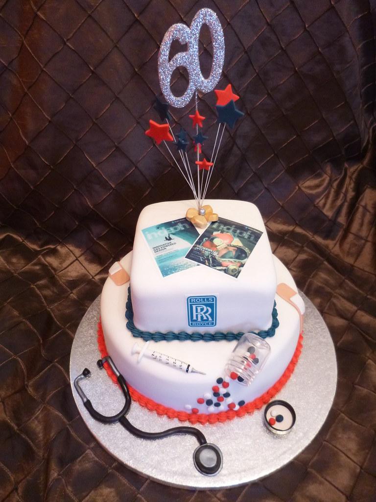 Rolls Royce And Nurse 60th Birthday Cake Dawn Flickr