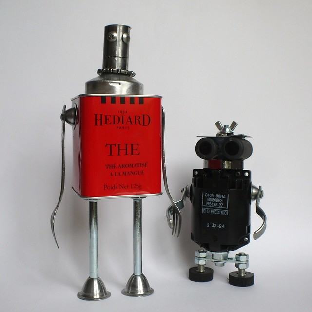 Robot King Hediard III and his son the black prince