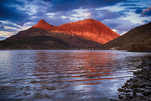 Evening mountain light
