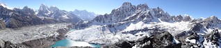 A taste of things to come..... Three High Passes to Everest trek: the view from Gokyo Ri (5,357m/17,575ft) | by Mary Loosemore