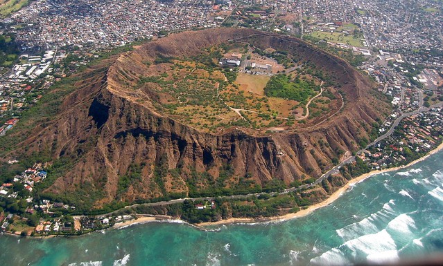 Diamond Head East Aerial View, Waikiki and Honolulu Hawaii, Summer  ≡  Eric Tessmer, Molokai, Hawaii