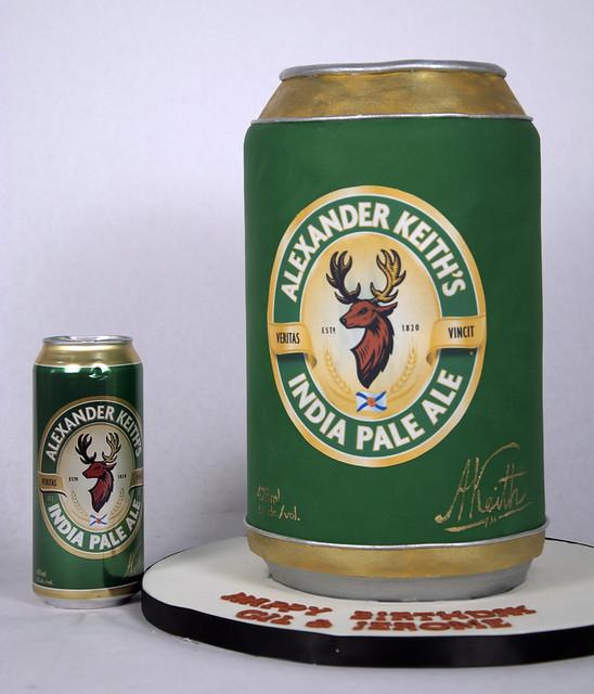 N1003 - alexander keiths beer can cake toronto