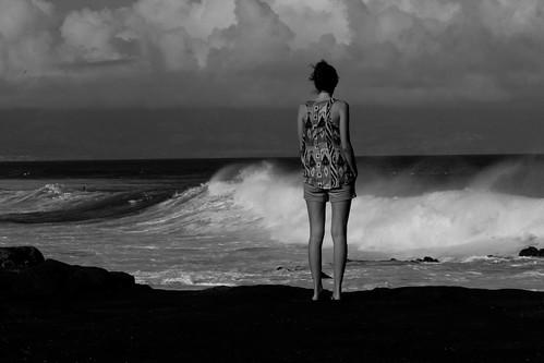 portrait bw white black art beauty hawaii surf noir wave maui nb vague et blanc