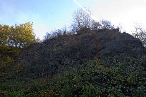 Barrow Hill quarry face