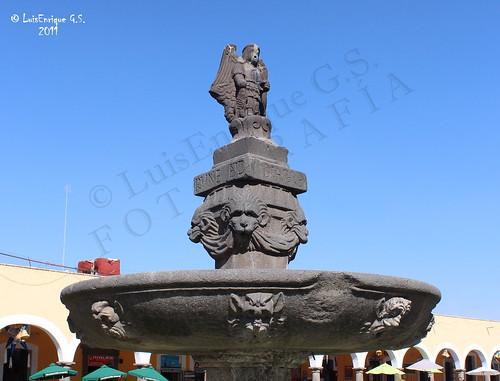 fuente de San Miguel Arcángel - San Pedro Cholula - Puebla - México