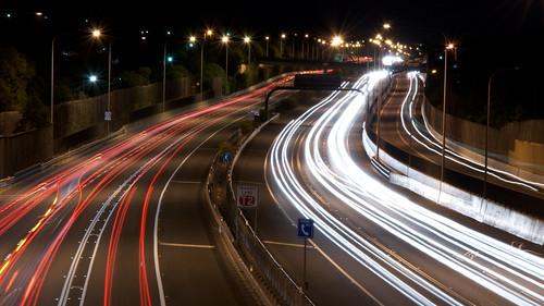light red white night nikon highway view australia brisbane queensland nightview d7000 nikonafsdxnikkor18105mmf3556gedvr