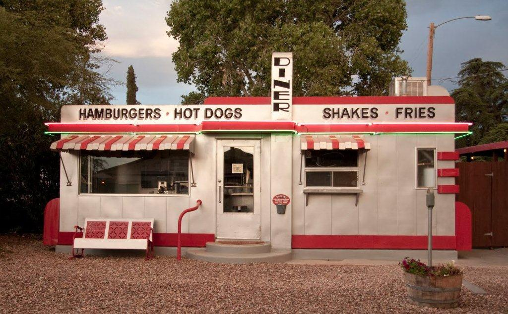 Along Old Rt. 66, Diner, Valentine, AZ