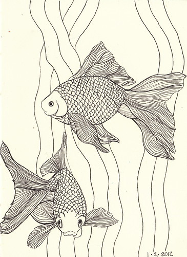 goldfish linework | by MagaMerlina