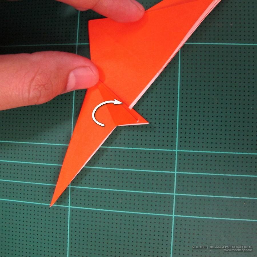 วิธีการพับกระดาษเป็นรูปไดโนเสาร์ (Origami Dinosaur) 004