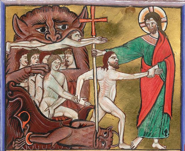 London BL - Arundel 157  fol-11  Harrowing of Hell