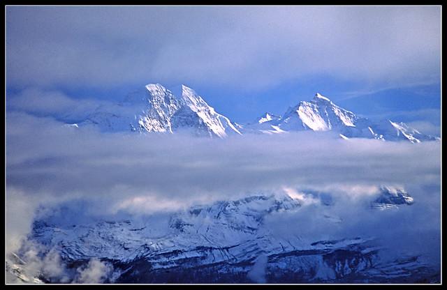 Eiger, Mönch and Jungfrau - Swiss Alps, 1994