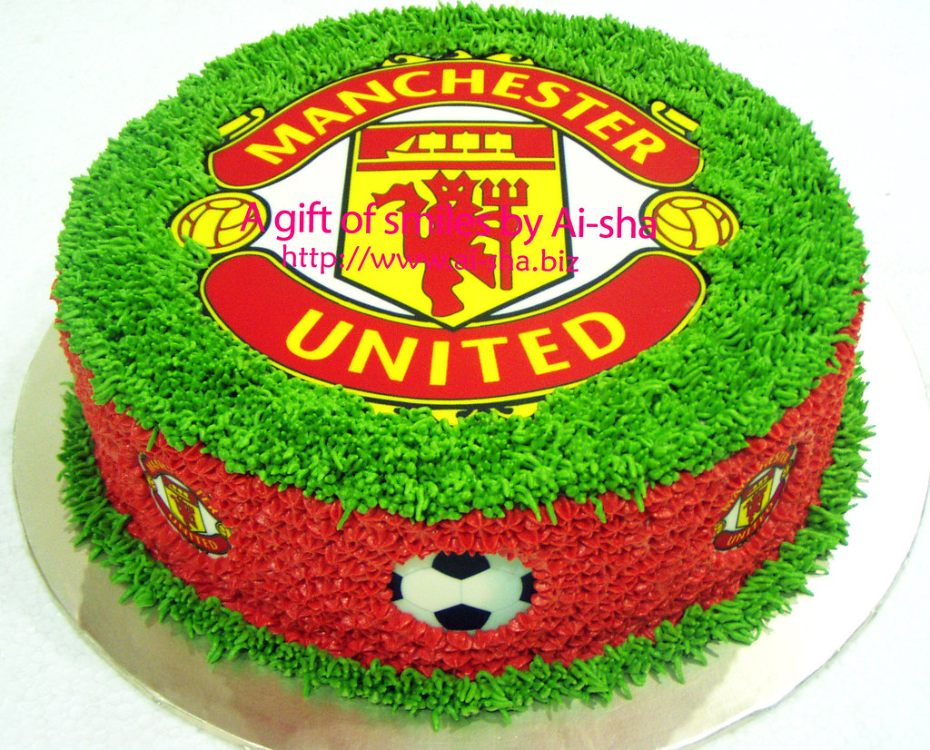 Admirable Birthday Cake Edible Image Manchester United Cake Cupcakes Birthday Cards Printable Nowaargucafe Filternl